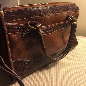 Brahmin brown leather purse